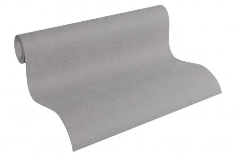 Vliestapete Uni Textil Optik Struktur dunkel grau 30487-5 Elegance - 5th Avenue - Vorschau 2