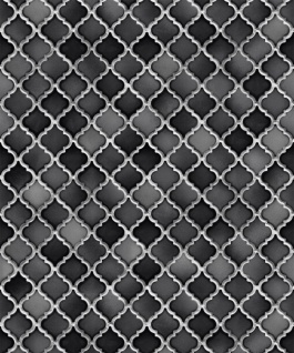 Vlies Tapete Stein Keramik Mosaik Fliesen Florentiner Optik Schwarz grau weiß