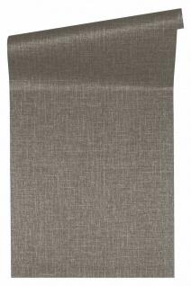 Versace 4 Luxus Uni Struktur Vlies Tapete braun grau metallic 962337