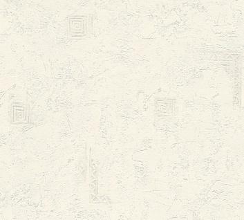 Uni Struktur Vlies Tapete weiß Putzstruktur grafisches Muster 1916-56