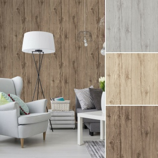 Vlies Tapete Holz Struktur rustikal grau beige braun shabby wood landhaus Antik