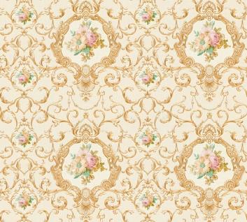 Vlies Tapete Ranken Barock Ornament Blumen beige gold glanz 34391-5 Chateau 5
