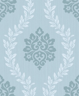 Vlies Tapete Barock Muster Ornament Glitzer effekt glänzend pastellblau A23404