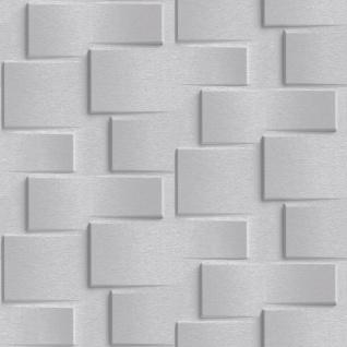 Vliestapete moderne 3D Steinwand grau Stein Optik Grafisch Brick EP3302