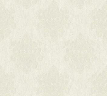 Vliestapete Barock Ornament creme weiß Großrolle 10, 05 x 1, 06 m 36454-3 Melange