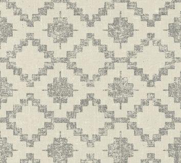 Vlies Tapete Rauten Ethno Kelim Textil Optik braun grau California 36375-2
