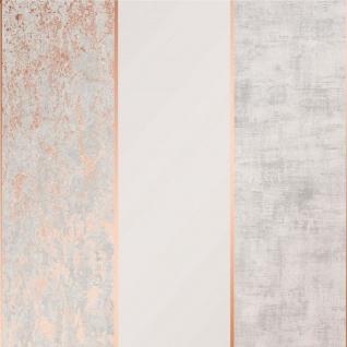 Streifen Struktur Tapete rose gold metallic grau beige 106516 Loft Blockstreifen