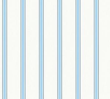 Esprit Kids 5 Streifen Tapete hellblau weiß 35831-1 / 358311