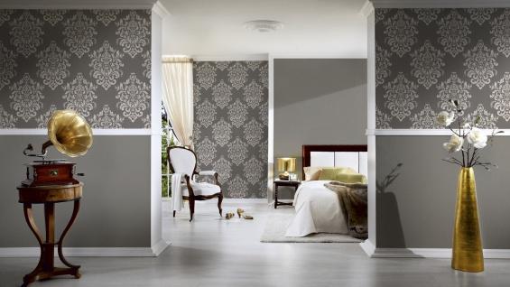 Luxus Vliestapete Barock Ornament taupe grau glanz metallic 34143-2 Hermitage - Vorschau 4