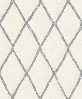 Vliestapete Rauten Muster creme weiß schwarz Struktur Tapete BN 219689