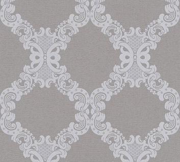 Vlies Tapete Barock Ornament hellgrau blau 36090-4 Elegance - 5th Avenue