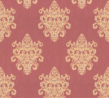 Vliestapete Barock Ornament rot gold Großrolle 10, 05 x 1, 06 m 36454-4 Melange