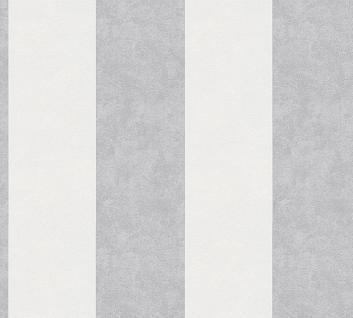 Vliestapete Streifen hell grau weiß 32990-2 Memory 3