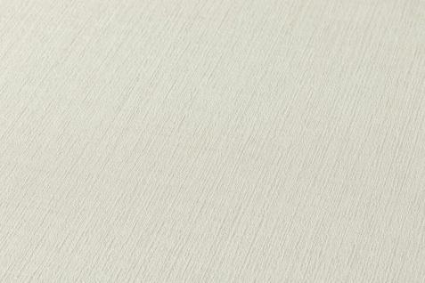 Versace 4 Luxus Uni Struktur Vlies Tapete creme weiß metallic 962335
