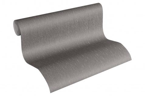 Luxus Vliestapete Uni dunkel grau anthrazit 34276-4 Hermitage einfarbig