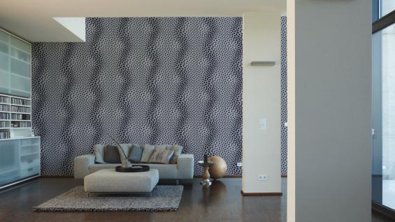 Vliestapete Uni Struktur Einfarbig grau Design by Mac Stopa 32728-4 - Vorschau 3