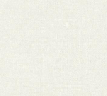 Vliestapete Uni Struktur Textil Leinen Optik creme grau 36776-4 / 367764