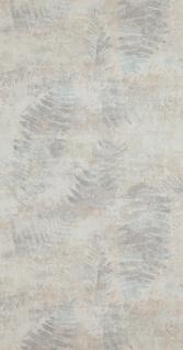 Vlies Tapete Stein Beton Blätter Zweige creme beige grau türkis 218450