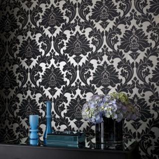 Vlies Tapete Barock Muster Ornament metallic effekt schwarz gold klassisch