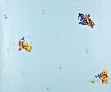 Disney Winnie Pooh Tigger Ferkel Papier Tapete Kindertapete blau