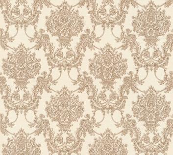 Vlies Tapete Barock Ornament creme braun glanz metallic 34492-5 Chateau 5