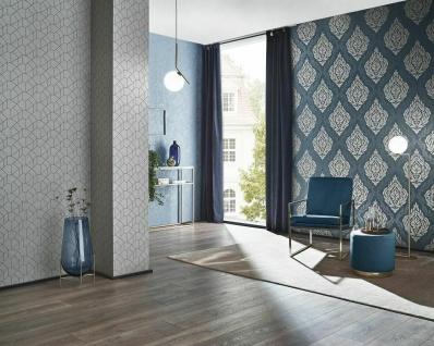 Vliestapete Carat Barock Ornament blau grau gold Glitzer 10060-44 / 1006044 - Vorschau 4