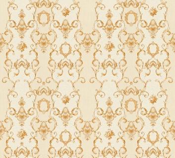 Vlies Tapete Ranken Barock Ornament beige gold weiß glanz 34392-5 Chateau 5
