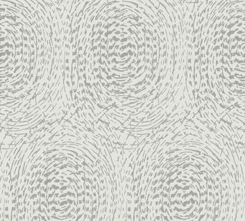 Vliestapete grafische abstrakte Kreise beige grau metallic AP Alpha 33373-3