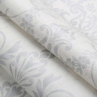 Viktorianische Barock Vlies Tapete Damask weiß silber grau metallic 103029