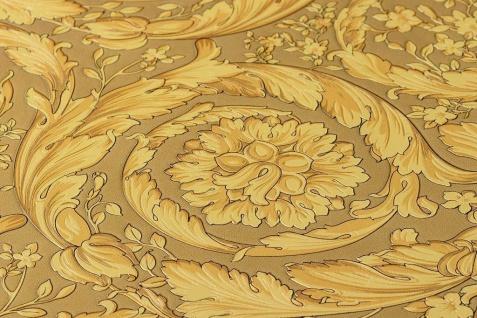 Versace 4 Vlies Tapete Federn Ranken Kreis Ornament gold metallic 935833