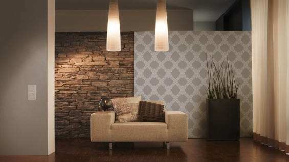 Vliestapete Uni Textil Optik Struktur dunkel grau 30487-5 Elegance - 5th Avenue - Vorschau 4
