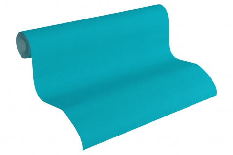 Vliestapete Uni Struktur Einfarbig blau türkis Design by Mac Stopa 32728-1