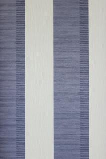 Vliestapete Streifen Struktur Tapete violettblau creme weiß 3503-20 gestreift