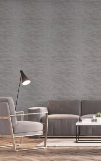 Vlies Tapete Uni Beton Stein Optik dunkel grau bronze metallic ON4201 industrial - Vorschau 2