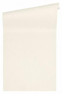 Versace 4 Luxus Uni Textil Optik Vlies Tapete creme metallic 343271