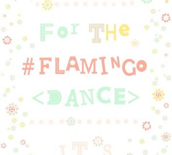 Vlies Tapete Blümchen Flamingo Dance Schrift weiß gebl grün apricot Cozz 36293-3