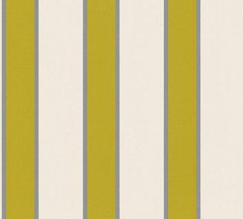 Vlies Tapete Streifen creme grün glanz metallic Architects Paper Alpha 33329-2