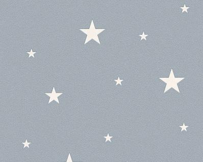 Vliestapete leuchtende Sterne grau blau 32440-3 sternchen tapete leuchttapete