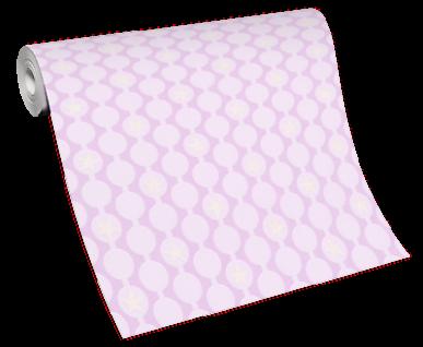 Vlies Tapete Kreise Streifen Sterne glitzer weiß rosa Struktur Kinder 10162-05