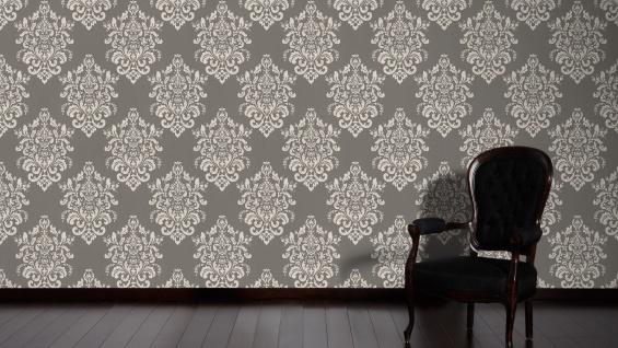 Luxus Vliestapete Barock Ornament taupe grau glanz metallic 34143-2 Hermitage - Vorschau 5