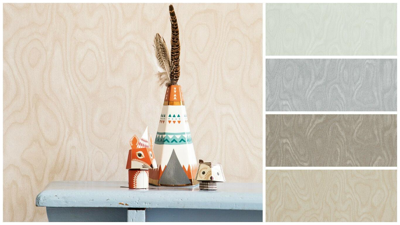 Vlies Tapete Elegante Holz Optik Weiß Grau Beige Taupe Braun Essentials  Wood 1 ...