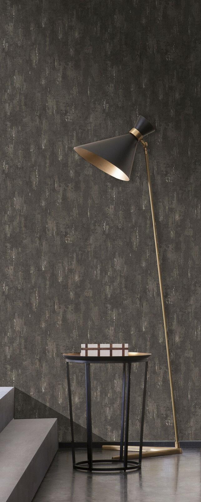 vlies tapete stein wand beton optik struktur creme beige braun anthrazit schwarz kaufen bei. Black Bedroom Furniture Sets. Home Design Ideas
