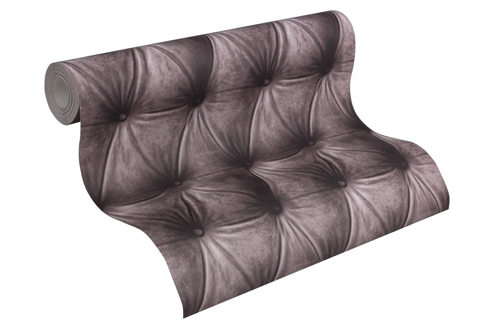 ... Vlies Tapete Design Leder Muster Optik Samt Grau Braun Edel Polster  Stepp Optik 3