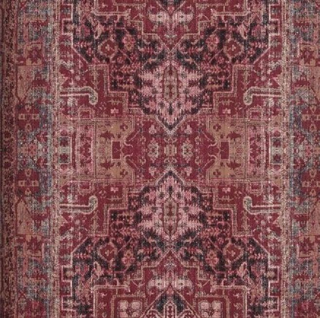 Vlies tapete orientalisches wandteppich muster bordeaux for Tapete rot muster