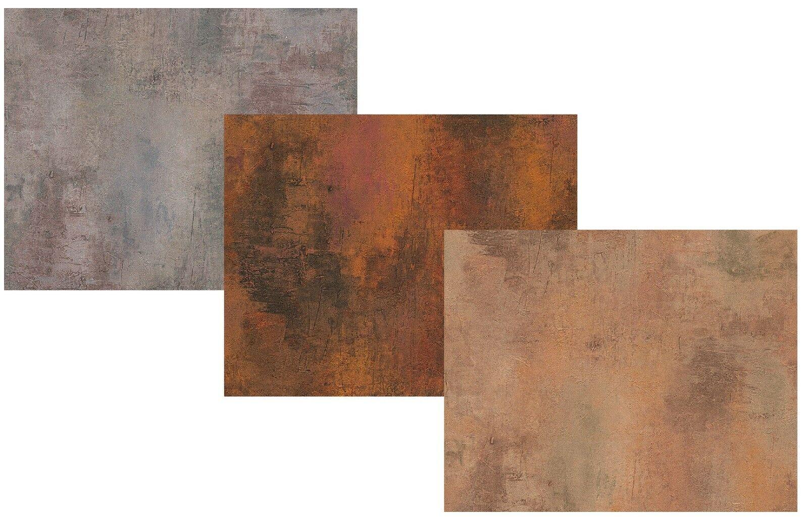 Vlies Tapete Patina Stein Wand Grau Kupfer Rost Braun Antik Optik Beton 1  ...