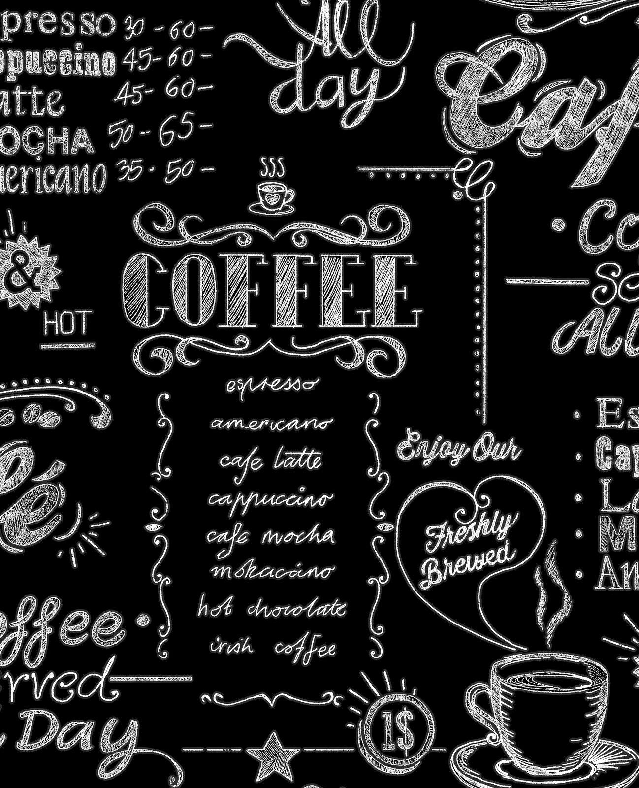 vliestapete k chen tapete coffee shop schwarz wei black white 32 993 kaffee kaufen bei. Black Bedroom Furniture Sets. Home Design Ideas
