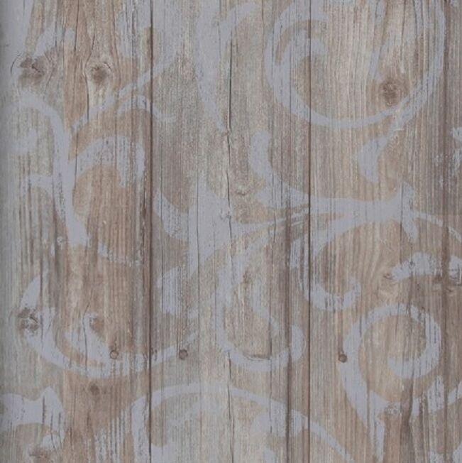 vlies tapete antik holz rustikal ornament muster barock braun grau shabby kaufen bei joratrend. Black Bedroom Furniture Sets. Home Design Ideas