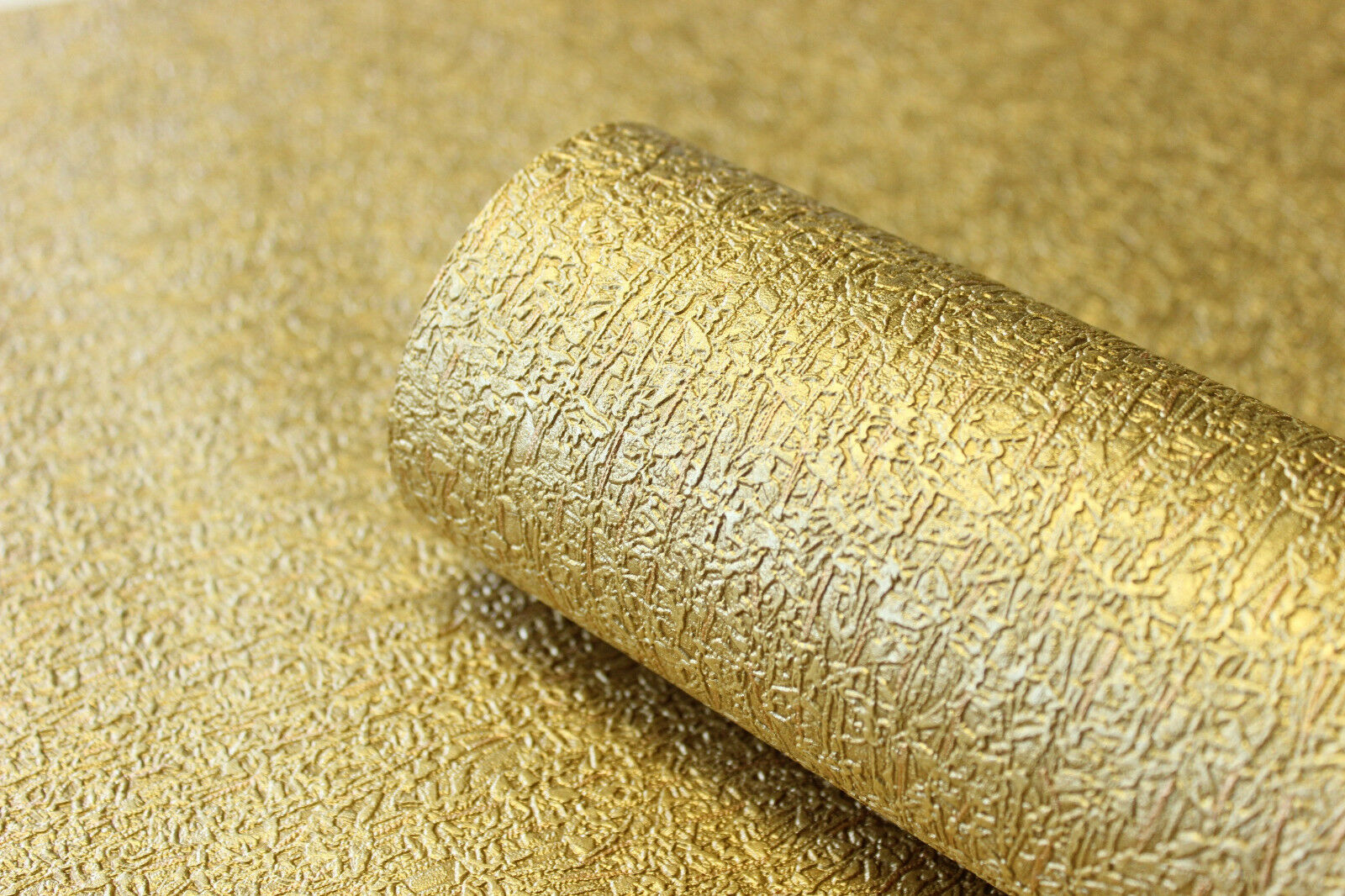 Vlies Tapete Gold Uni Struktur Hochwertige Qualitat 1004 3 Metallic