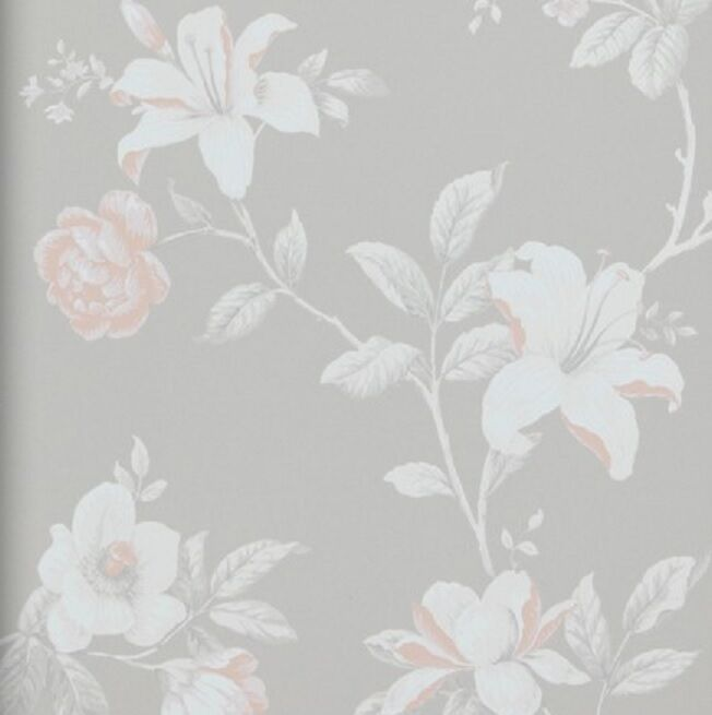 vlies tapete florales blumen muster creme braun ros. Black Bedroom Furniture Sets. Home Design Ideas