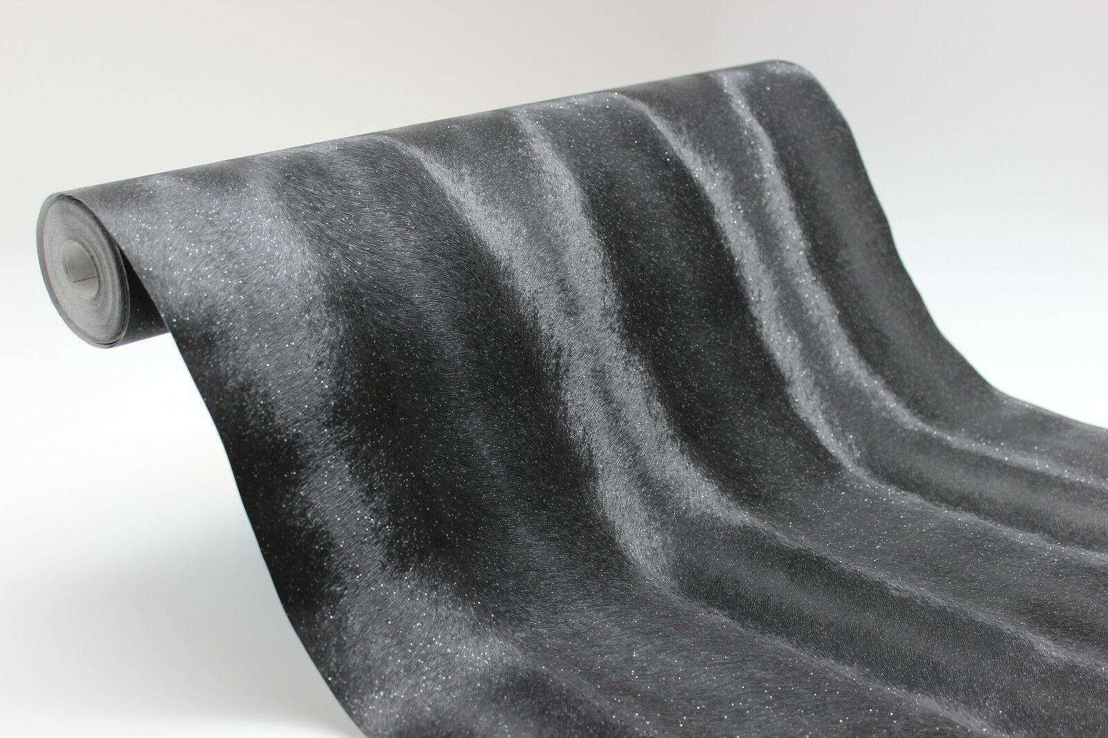 vlies tapete design pelz optik schwarz glitzer effekt elegant graham brown kaufen bei. Black Bedroom Furniture Sets. Home Design Ideas